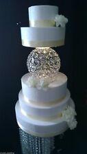 Chandelier Sphere Crystal cake separator for wedding cakes - 2 sizes 18cm , 25cm