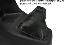 Verde Stitch encaja Honda Crx 88-92 Cuero Gear Polaina
