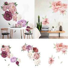 Peony Rose Flowers Wall Art Sticker Decals Kid Room Nursery Home Decor Gift CA