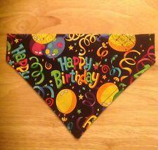 Dog Pet Happy Birthday Bandana Fits Over The Collar Bandana XS~Large