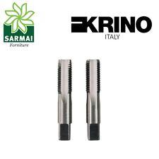 Serie 2 Maschi GAS BSP maschio a mano KRINO filettatura cilindrica varie misure