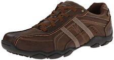 Skechers Diameter Murilo Dark Brown Mens Leather Traienrs Shoes