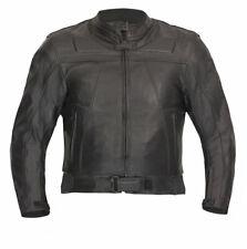 Lederjacke hochwertige Chopper Motorradjacke schwarz Gr. 46 bis 70