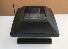 4-pk Garden Solar Black Cap light With 2 White SMD LED For 6