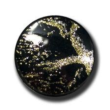 5 glamouröse schwarze Ösen Knöpfe mit Metallic Glitzer (a539sg)