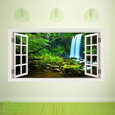AMAZON JUNGLE WINDOW WALL STICKER FULL COLOUR - LOUNGE BEDROOM GRAPHIC C365