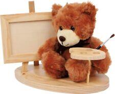 Bär mit Staffelei  Teddy: ca. 13 x 15 x 16 cm