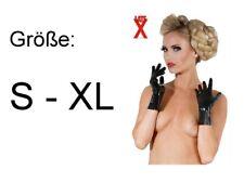 Latex Handschuhe kurz schwarz Wetlook Gloves Abendhandschuhe getaucht Damen