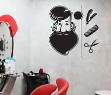 Vinyl Decal Wall Sticker Barber Shop Tools Elements Hair Salon Art (n823)