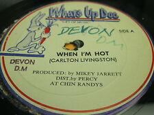 "Hear Rare Rocksteady 12"" 45: Carlton Livingston - When I'm Hot on What's Up Doc"