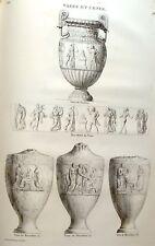 """Musee des Antiques"" Eng. -c1811- VASE OF SOSIBIUS"