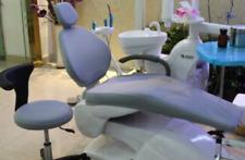 Dental Unit Chair Cover Cloth Protector Dentist Stool Cushion Headrest Grey