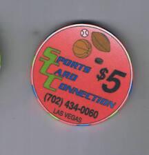 Sports Card Connection $5.00 Casino Chip Las Vegas Nevada