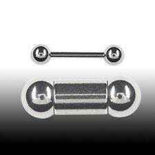 2mm Stahl Piercing Stab Barbell Ohr Brust Intim Piercing Zungenpiercing Hantel