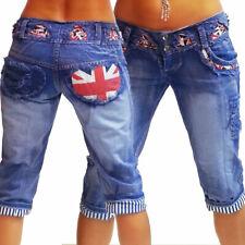 Boyfriend 3/4 Jeans Pantaloni CRAZY-Chris BLU Caprihose marinaio Shorts Pantaloni Corti