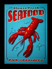 * Seafood Poster Lobster Hummer Küche Feinschmecker Meeresfrüchte Schild *862