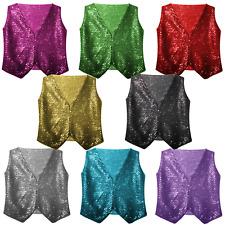 BOYS DANCEWEAR Costume SEQUIN Sparkle Vest WAISTCOAT Dance Party Show Costumes