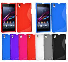S Line Hülle Sony Xperia Z1 C6906 C6903 L39H Tasche Silikon Case Cover + Folie