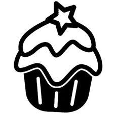 Sticker Cuisine Gateau Cupcake Glaçage Etoile dessert , 18 coloris (CUIS064)