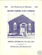 Mount Carmel A. M. E. Church 53rd Anni. New Rochelle NY