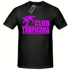 Club Tropicana 80's T-Shirt,(purple logo) Men's Ladies tshirt Fancy Dress 80's