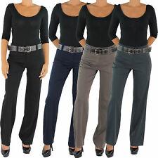 cintura colpo Pantaloni Bootcut Pantaloni Tessuto ufficio elegante classic Donna Business pantaloni