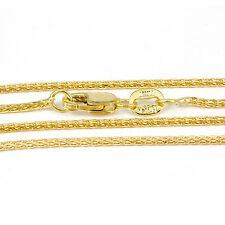 "16-24"" 1.0mm 10k Yellow Gold Diamond Cut Wheat Chain, (NEW Italian necklace)2358"