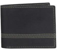 Timberland Mens Cloudy Quad Billfold Genuine Leather Slim Bifold Wallet