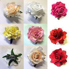 Large Rose Flower Hair Clip or Brooch Vintage 1950s Bridal Prom Rockabilly UK