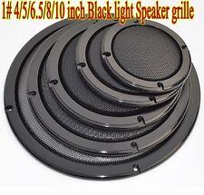 1pcs 1# 4/5/6.5/8/10 inch Black light Speaker grille Car Subwoofer Masks
