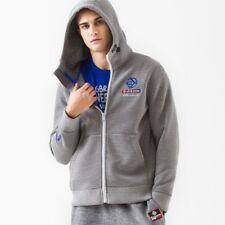 New Mens Jacquard Knit Bond Hoodie Sweatshirt Hooded Zip-up Top Jacket Pullover
