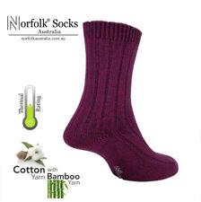 Norfolk® Womens Classic Walk/Boot Socks, Soft Bamboo & Cotton Blended Yarn- Suzy