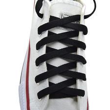 """Flat Shoelace 8 mm """"Black"""" Athletic Sneakers 27"""",36"""",45"""",54"""",63,"""""""