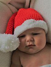 HANDMADE in UK Ganchillo Tejido Navidad Santa Elf Sombrero Bebé Niño Foto Prop