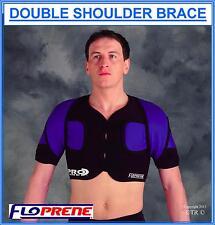 Floprene Double Shoulder Brace Black Medical Support Wear Sport Protection Gear