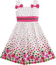 Mädchen Kleid Fehler drucken Bunt Punkt Kinder Kleidung Gr. 86-122