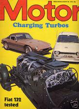 Motor 28 Aug 1976 Fiat 132 GLS, Jensen, Turbocharging