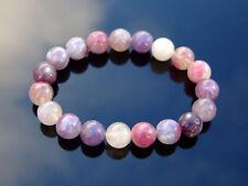Pink Tourmaline 10mm Natural Gemstone Bracelet 6-9'' Elasticated Healing Stone