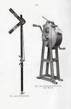 1921 IMPRIMÉ ~ SÉMAPHORE SON MACHINE INVERSE DE TREUIL SEXTANT SOCLE GLISSE RULE