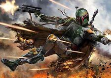 Star Wars Boba Fett helmet gun Art Print Photo Poster A3 A4