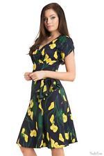 Voodoo Vixen Flora Calla Lily 40s Style Dress 1930s, 1940s, 1950s Vintage Retro