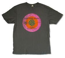 "GOO GOO DOLLS ""DISTRESSED 45 TOUR 2014"" CHARCOAL GREY LADIES T-SHIRT BAND MUSIC"