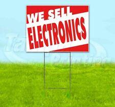 WE SELL ELECTRONICS Yard Sign Corrugated Plastic Bandit Lawn Decoration USA