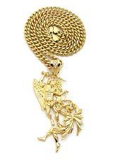 """Saint Michael Archangel Pendant 6mm 24"""" Cuban Chain Hip Hop Fashion Necklace"""