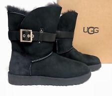 Ugg Australia JAYLYN strap / metal buckle Twinface boot 1018628 Black Sheepskin