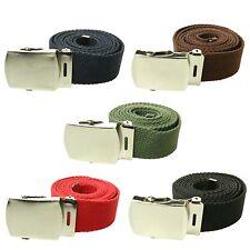 Unisex 40mm Moda De Lona De Tela Militar Curvada Estilo hebilla de cinturón de vendedor de Reino Unido