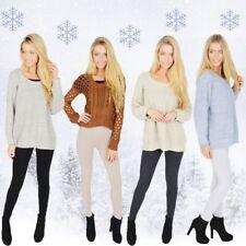 Womens Opaque Thick Winter Fleece Cotton Leggings Extra Warm Sizes 6-30  V1