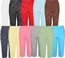 M89 donne metà elasticizzati donna 3/4 Tre quarti Pantaloni Pants Plus Taglia Grande