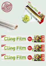 Pellicola TRASPARENTE-Cucina Professionale Ristorazione Confezioni di Storage cibo Wrap Wrapping Nuovo Regno Unito