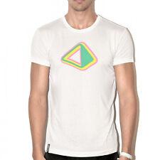 UFFICIALE AMNESIA IBIZA UOMO T-Shirt Logo PIRAMIDE cosmica avorio beige prezzo consigliato £ 50.00